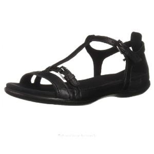 ECCO Women's Flash T-Strap Sandal - Best Sandals for Wide Feet: Leather Sandal