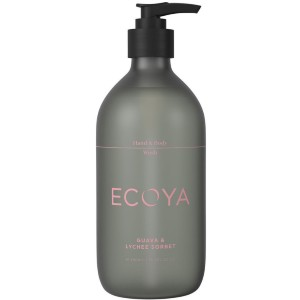 ECOYA Guava & Lychee Sorbet Hand & Body Wash - Best Liquid Hand Soap: Long-lasting fragrance hand and body wash