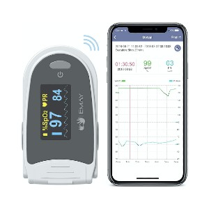 EMAY Sleep Oxygen Monitor  - Best Pulse Oximeter for Overnight Monitoring: No need real-time connection