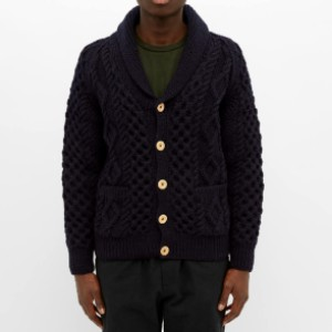 End INVERALLAN 6A SHAWL CARDIGAN - Best Cardigans for Men: Shawl-Collared Wool Cardigan