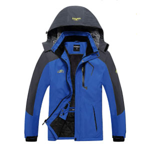 EQUICK Men's Waterproof Ski Jacket Fleece - Best Rain Jackets for Alaska: The Super Soft Fuzzy Lining and Cotton Padding