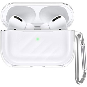 ESR Upgrade Clear Carrying Case for AirPods Pro Case 2019 - Best Airpods Pro Case: Premium Materials and Easy To Carry