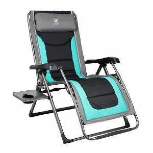 EVER ADVANCED Oversize XL Zero Gravity Recliner - Best Folding Lounge Chair: Padded seat for lumbar support