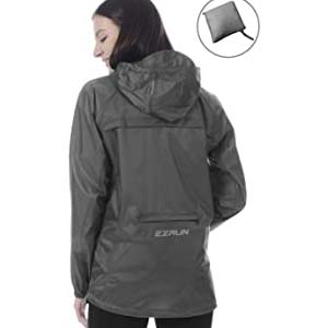 EZRUN Women's Waterproof Hooded Rain Jacket - Best Raincoats for Summer: Perfect for all conditions