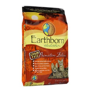 Earthborn Holistic Primitive Feline Grain-Free Natural Dry Cat & Kitten Food - Best Food for Cats with Diarrhea: Rich in Protein Dry Food