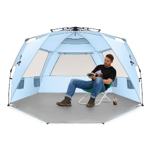 Easthills Outdoors nstant Shader Deluxe XL Easy Up 4 Person Beach Tent - Best Beach Tents for Wind: Deluxe Tent for Whole Family