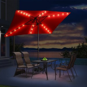 Arlmont & Co. Easton Market Umbrella - Best Patio Umbrellas with Lights: Exquisite design, powerful lights
