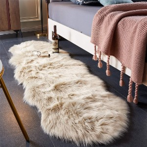 EasyJoy Ultra Soft Fluffy Rugs  - Best Rug for Queen Size Bed: Hypoallergenic fabric