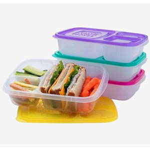 Easy Lunch Boxes Bento Lunch Boxes - Best Food Storage Container: Kid-friendly lid