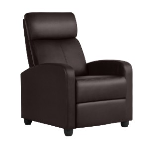 Easyfashion Faux  - Best Recliners for Small Spaces: Thick High Density Foam