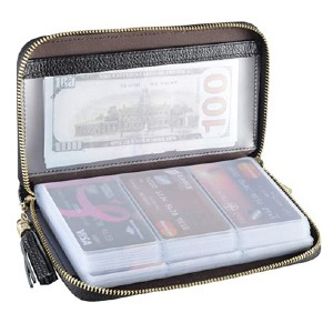 Easyoulife Credit Card Holder - Best Wallet for Lots of Cards: Holds up to 60 cards!