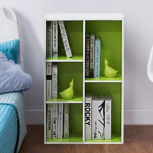 Ebern Designs Harkless Standard Bookcase - Best Bookcases for Small Spaces: Simple Irregular Shelves