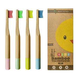 EcoFrenzy Kids Bamboo Toothbrush - Best Biodegradable Toothbrush: Best for kids