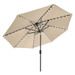EliteShade Sunbrella Solar Umbrellas 9ft Market Umbrella  - Best Patio Umbrellas with Lights: 20% stronger
