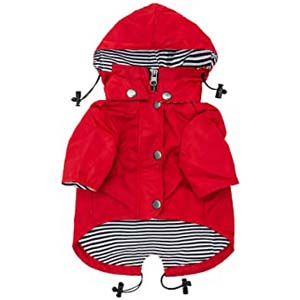 Ellie Dog Wear Red Zip Up Dog Raincoat - Best Raincoats for Corgis: Stylish and well-made