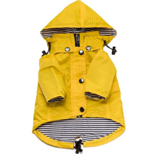Ellie Dog Wear Store Zip Up Dog Raincoat with Reflective Buttons - Best Raincoats for Dogs: Raincoat with Buttoned Pockets
