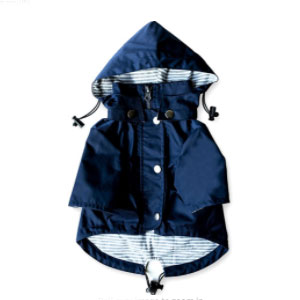 Ellie Dog Wear Store Zip Up Dog Raincoat with Reflective Buttons - Best Raincoats for Dogs: Raincoat with Multiple Pockets
