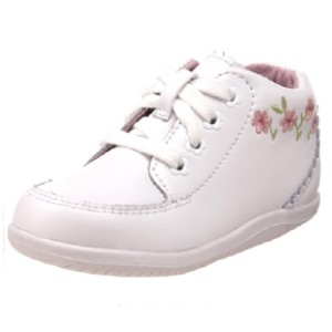 Stride Rite Emilia Bootie - Best Baby Shoes for Learning to Walk: Lace-Up Vamp with Tonal Floral Eyelets