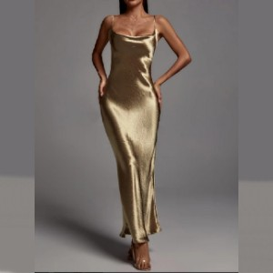 Bella Barnett Emily Metallic Maxi Dress - Gold  - Best Bodycon Dresses: Steal everyone's attention