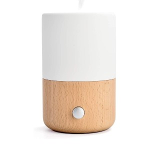 ZEIGGA LAB Emma Waterless Nebulizing Essential Oil Diffuser  - Best Nebulizer for Essential Oils: It also works as night light