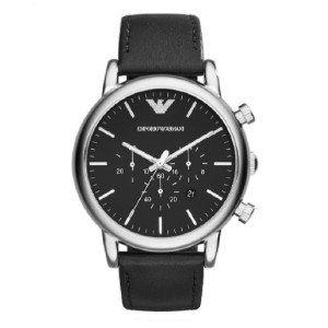 Emporio Armani Classic Analog Analog-quartz Black Watch - Best Waterproof Watches: Features Leather Band with Tonal Stitching