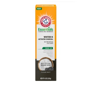 ARM & HAMMER Essentials Fluoride-Free Toothpaste - Best Teeth Whitening Toothpaste: Clinically Proven to Whiten Teeth