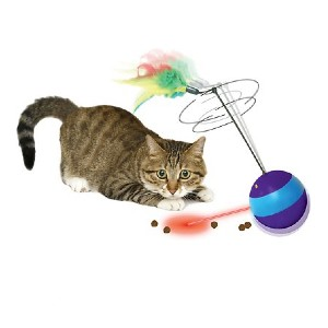 Ethical Pet Spin About Electronic Laser & Treat Dispenser Cat Toy - Best Cat Laser Toys: Automatic Laser Lights
