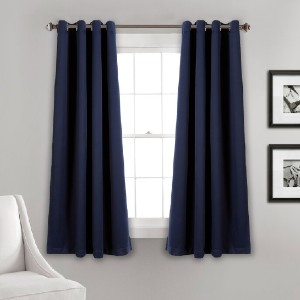 Everly Quinn Ketterman Solid Blackout Thermal Grommet Window Panels (Set of 2) - Best Curtains for Bedroom: Versatile Accent Curtain