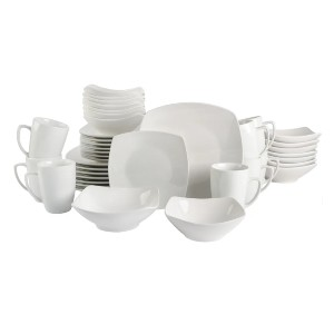 Gibson Home Expanded Dinnerware Set - Best Porcelain Dinnerware: Matches any decor