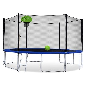 Exacme Outdoor Round Trampoline with Basketball Hoop - Best Home Trampoline for Adults: Variety of sizes