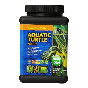 Exo Terra Adult Aquatic Turtle Food - Best Turtle Food for Red-Eared Slider: High in Vitamins and Minerals