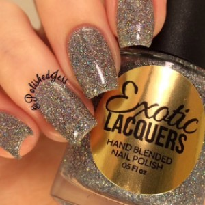 Exotic Lacquers Holographic Glitter Nail Polish - Best Silver Glitter Nail Polish: Holographic Glitter