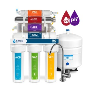 Express Water UV Reverse Osmosis Water Filtration System - Best Water Filtration Under Sink: Post-Carbon Water Filter