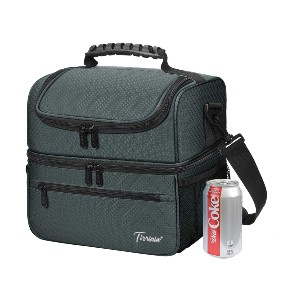 Tirrinia Extra Large Lunch Bag - Best Lunch Boxes Insulated: Dual Compartment Design