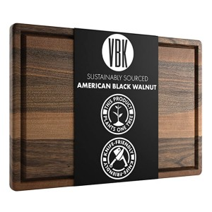 Virginia Boys Kitchens Extra Large Walnut Wood Cutting Board - Best Wood Cutting Boards: Works great, looks great