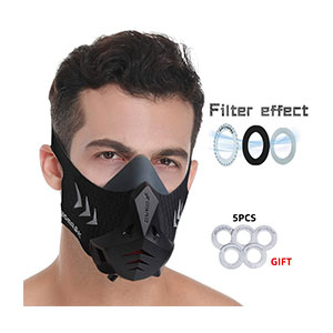 FDBRO Fitness Training Sport Mask - Best Masks for Working Out: A 6-level Valve