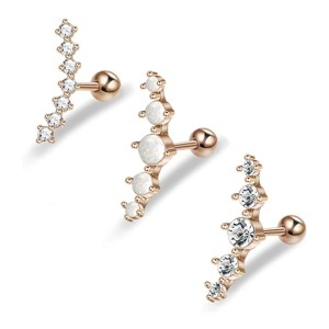 Fibo Steel Piercing Jewelry Set  - Best Jewelry for Piercings: High quality material