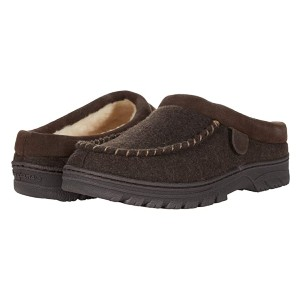 FIRESIDE by Dearfoams Lith Microwool and Genuine Shearling Moc Toe Clog - Best Wool Clogs: Water-Resistant Clogs