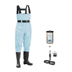 FISHINGSIR Fishing Chest Waders with Boots - Best Saltwater Waders:  The lowest price tag