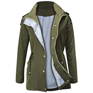 FISOUL Waterproof Lightweight Rain Jacket - Best Raincoats for Iceland: Fashionable and works well