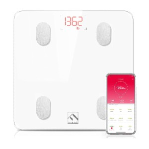 FITINDEX Smart Wireless BMI Bathroom Weight Scale - Best Weight Scale with BMI: Sync with popular health apps