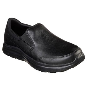Skechers FLEX ADVANTAGE SR - Best Waterproof Shoes for Nurses: Relaxed Fit Design for A Roomy Comfortable Fit