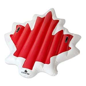 FLOAT-EH Maple Leaf Pool Float for Adults - Best Floats for Adults: Great look and quality