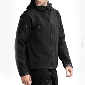 FREE SOLDIER Store Waterproof Soft Shell Hooded - Best Raincoats for Cold Weather: Stylish Raincoat Jacket