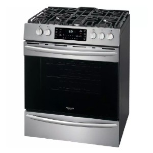 Frigidaire 30 in. 5.6 cu. ft. Front Control Gas Range  - Best Gas Ranges for Home: High-spec features