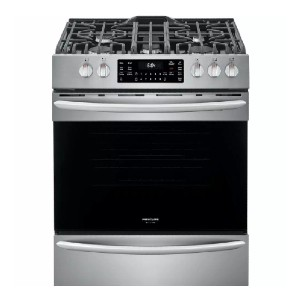 Frigidaire 30 in. 5.6 cu. ft. Front Control Gas Range  - Best Gas Ranges for Baking: Load more baking sheets