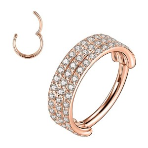 FUNLMO 16G Triple Double Stacked Earring  - Best Jewelry for Conch Piercing: Classic and timeless