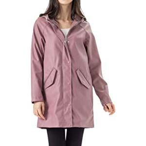 Fahsyee Rain Jacket Women - Best Raincoats for Cycling: Roomy raincoat