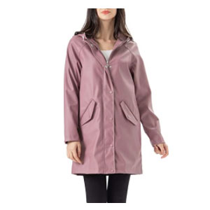 Fahsyee Windbreaker Outdoor Long Active - Best Raincoats for Women: Light Rain or Strong Wind Day Is No Matter