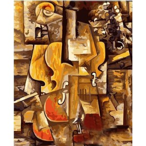 Paint by Numbers Love Famous Picasso Abstract Violin - Painting  - Best Paint by Number Kits for Adults: Expand Your Thoughts